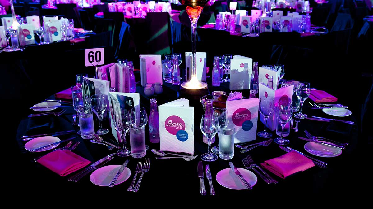 AHA NSW – Awards for Excellence - table theme