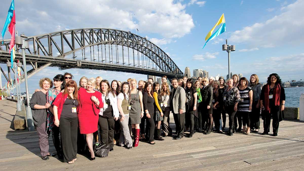 Arbonne Advantage Conference - Attendees by Sydney Harbour Bridge