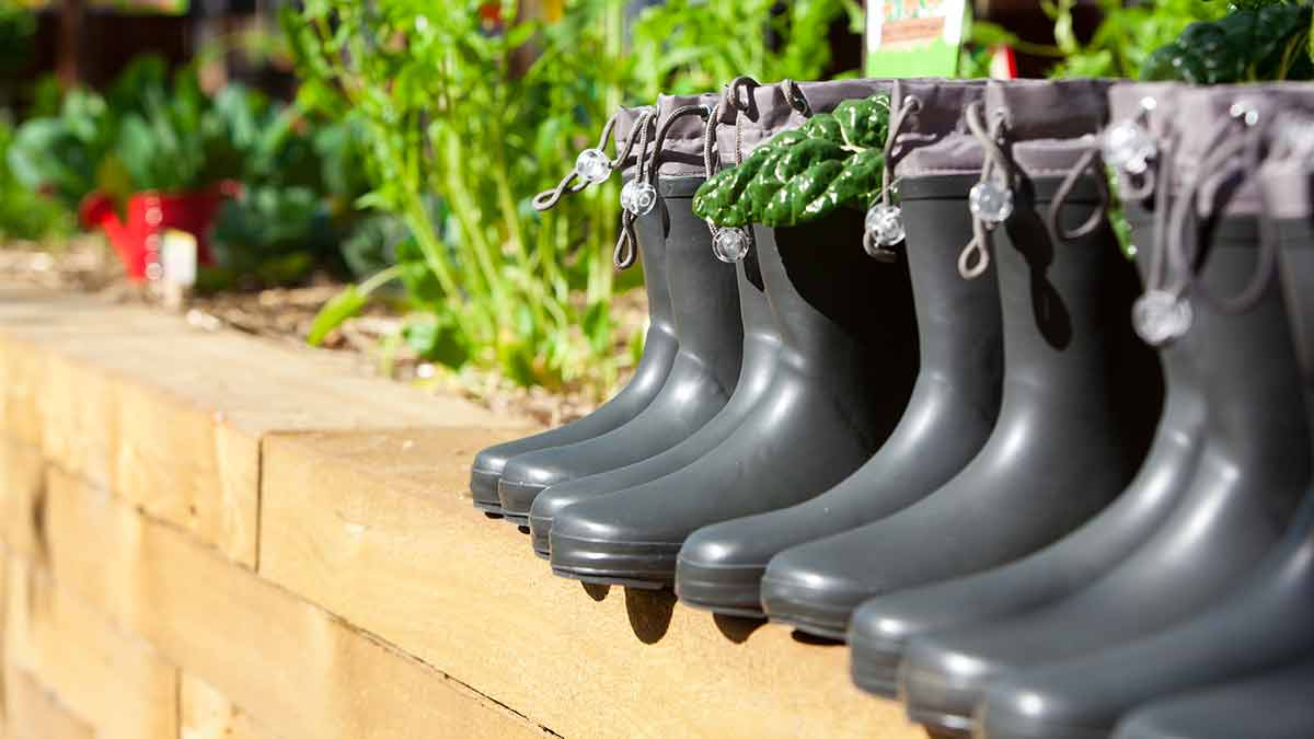 Community Kitchen Garden - wellies