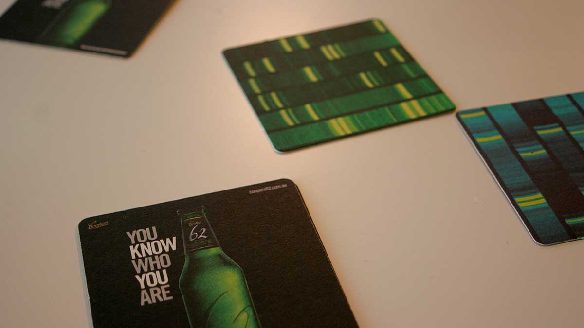 Coopers 62 launch - beer mats