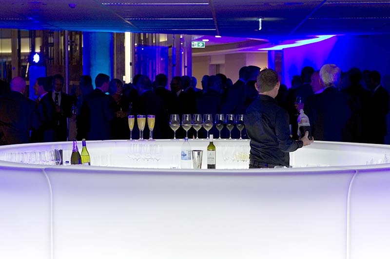 1 Bligh St opening - full circle glow bar