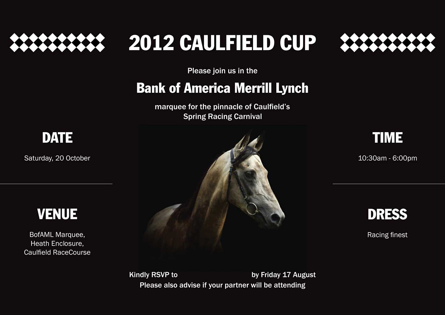 Caulfield Cup – Merrill Lynch – invite – inside