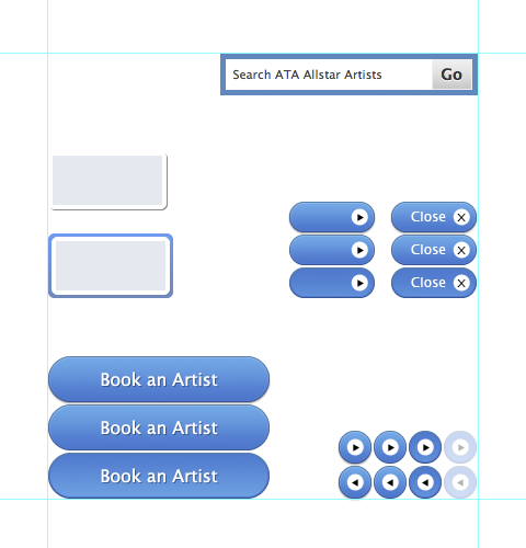 screenshot- ATA Allstar Artists ui