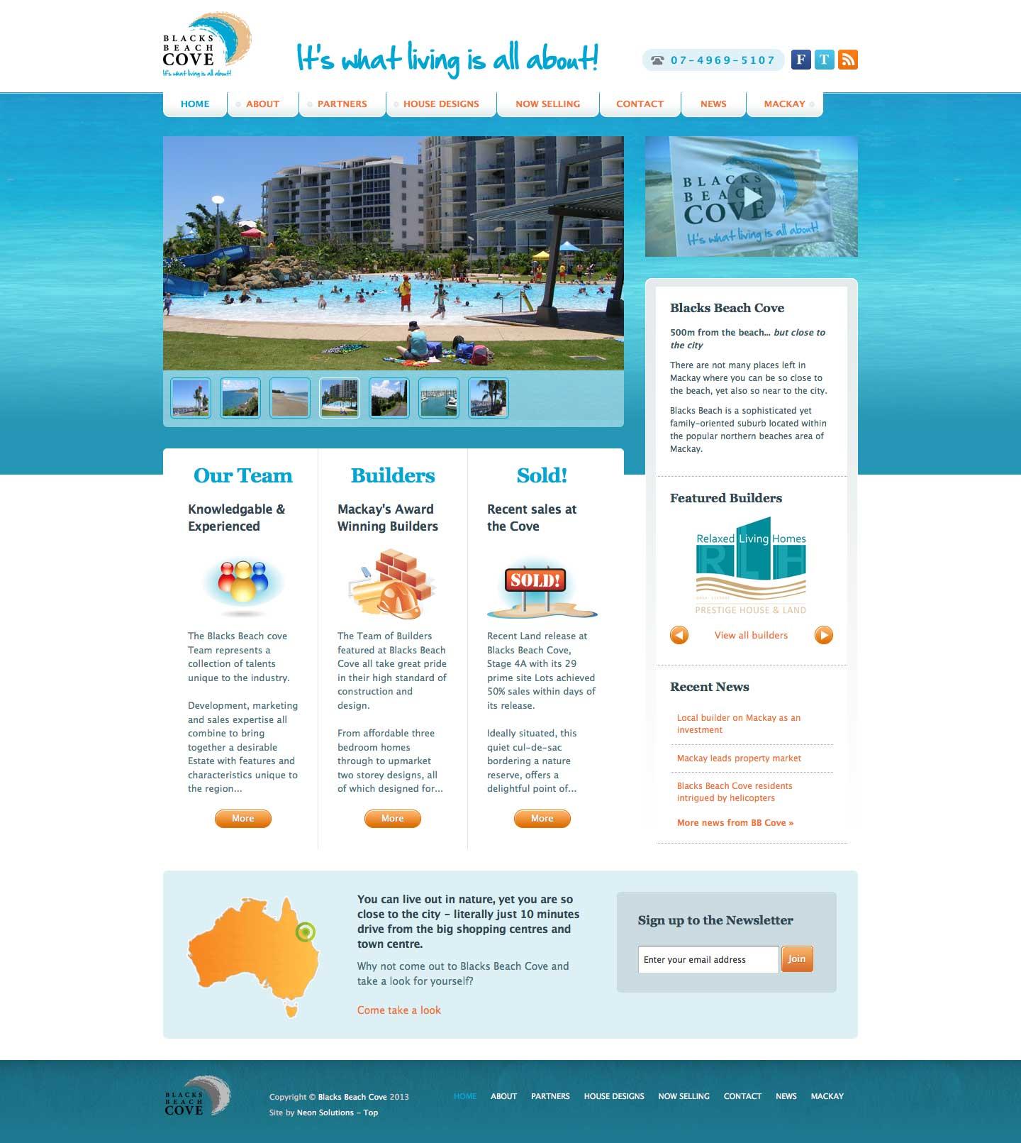 screenshot - Blacks Beach Cove - desktop