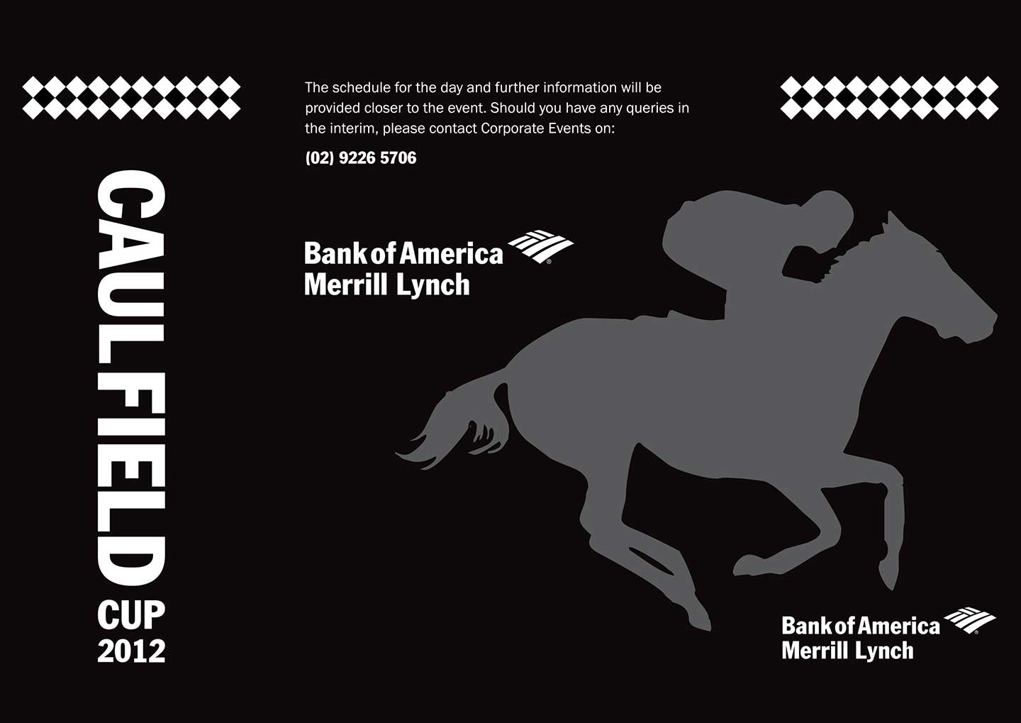 Caulfield Cup - Merrill Lynch - invite - front - back